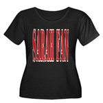 Sarah Fan Women's Plus Size Scoop Neck Dark T-Shir