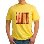 Sarah Fan Yellow T-Shirt