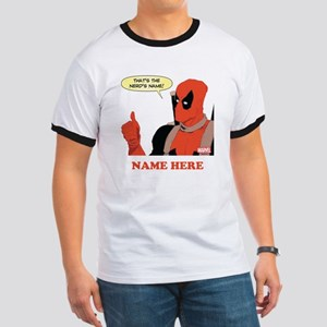 Deadpool Nerds Name Personalized Ringer T