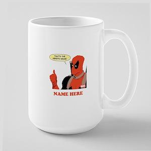 Deadpool Nerds Name Personalized Large Mug