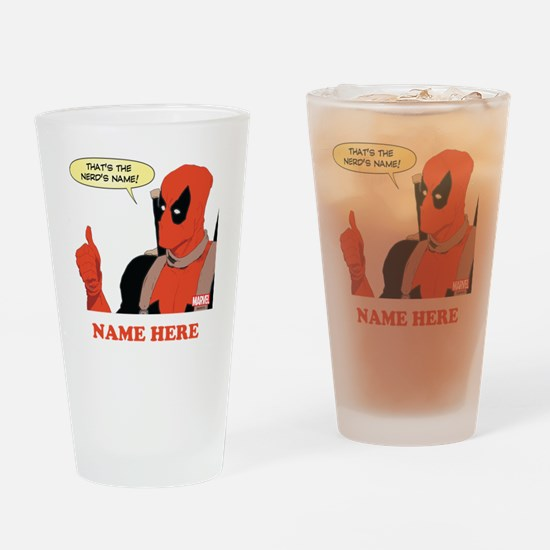 Deadpool Nerds Name Personalized Drinking Glass