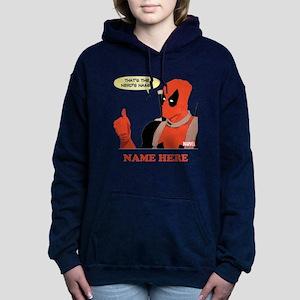 Deadpool Nerds Name Pers Women's Hooded Sweatshirt