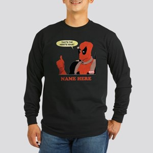 Deadpool Nerds Name Perso Long Sleeve Dark T-Shirt