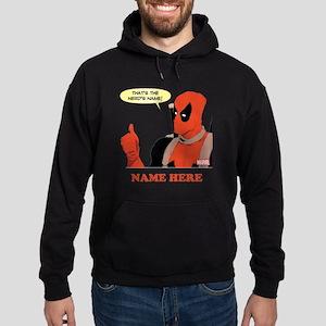 Deadpool Nerds Name Personalized Hoodie (dark)