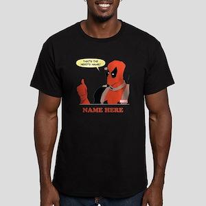 Deadpool Nerds Name Pe Men's Fitted T-Shirt (dark)