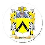 Philippi Round Car Magnet
