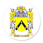 Philippault Round Car Magnet