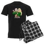 Green Goddesses - Men's Dark Pajamas