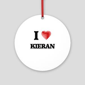 I love Kieran Round Ornament