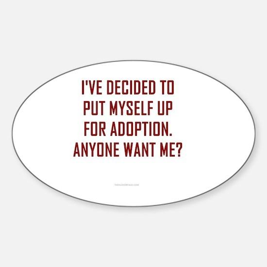 Cute Adopt me Sticker (Oval)