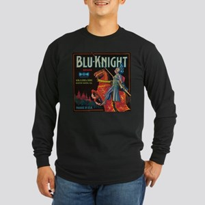 Blu Knight Vintage Crate Labe Long Sleeve Dark T-S