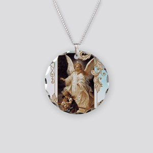 Angel of God (Day) Necklace Circle Charm