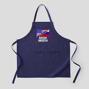 Russian American Flag Apron (dark)