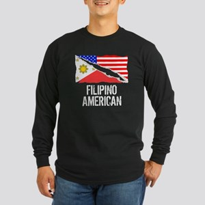 Filipino American Flag Long Sleeve T-Shirt