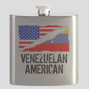 Venezuelan American Flag Flask