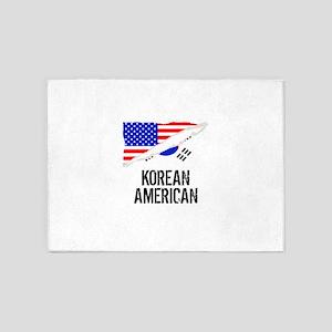 Korean American Flag 5'x7'Area Rug