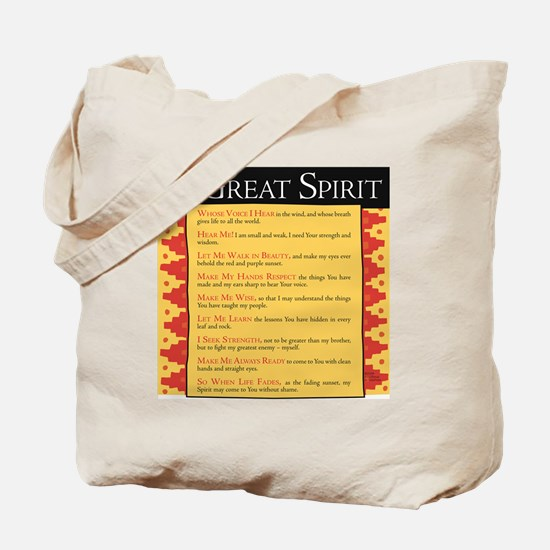 O Great Spirit Tote Bag
