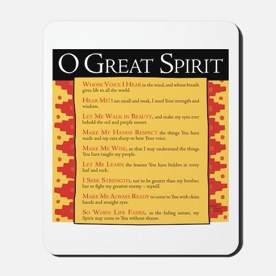 O Great Spirit Mousepad