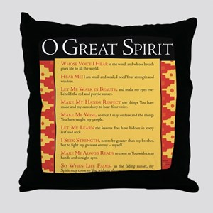 O Great Spirit Throw Pillow