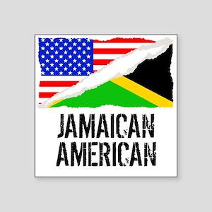 Jamaican American Flag Sticker