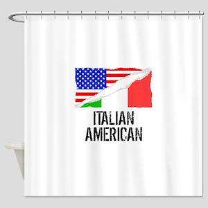 Italian American Flag Shower Curtain