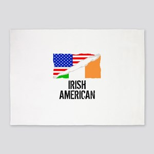 Irish American Flag 5'x7'Area Rug