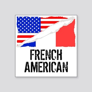 French American Flag Sticker