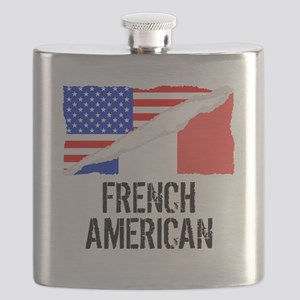 French American Flag Flask