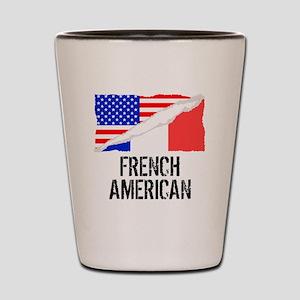 French American Flag Shot Glass