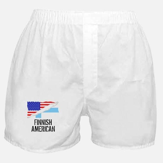 Finnish American Flag Boxer Shorts