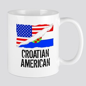 Croatian American Flag Mugs