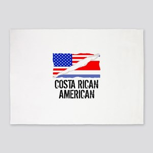 Costa Rican American Flag 5'x7'Area Rug