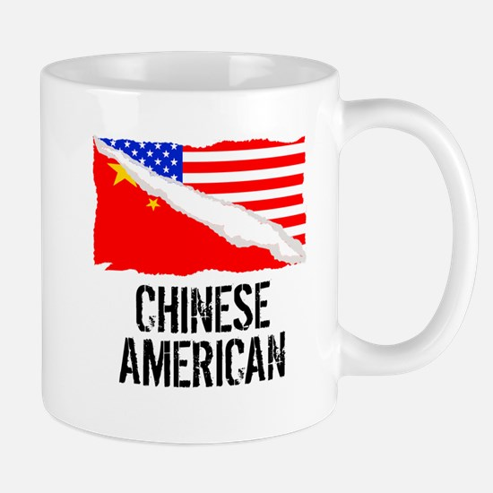Chinese American Flag Mugs