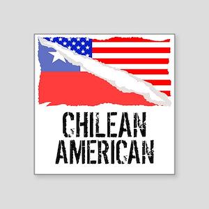 Chilean American Flag Sticker