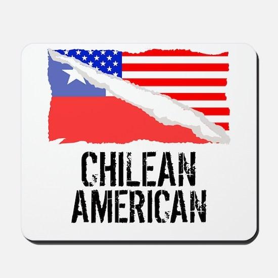 Chilean American Flag Mousepad