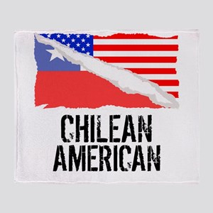 Chilean American Flag Throw Blanket