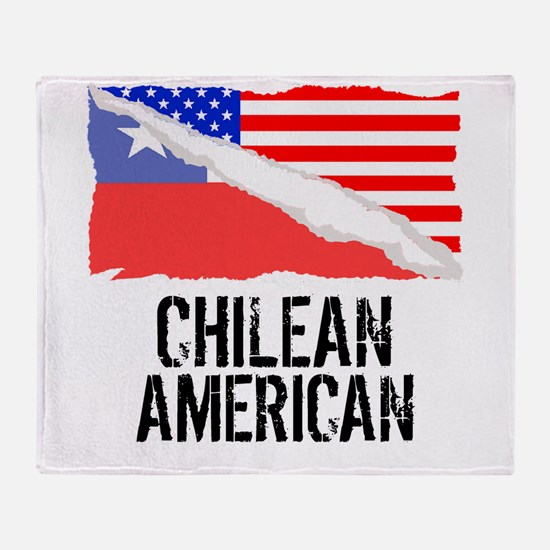 Chilean American Flag Throw Blanket