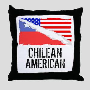 Chilean American Flag Throw Pillow