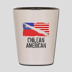 Chilean American Flag Shot Glass