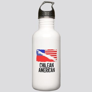 Chilean American Flag Water Bottle
