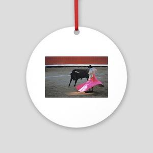 Bull fighter Round Ornament