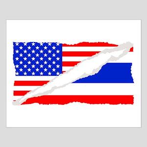 Thai American Flag Posters