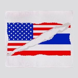 Thai American Flag Throw Blanket