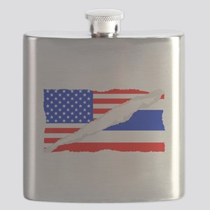 Thai American Flag Flask