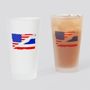Thai American Flag Drinking Glass