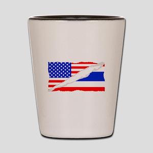 Thai American Flag Shot Glass