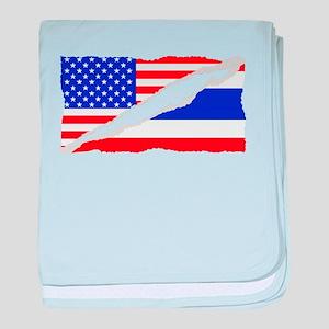 Thai American Flag baby blanket