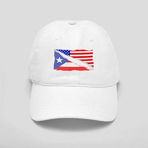 Puerto Rican American Flag Baseball Cap