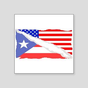 Puerto Rican American Flag Sticker