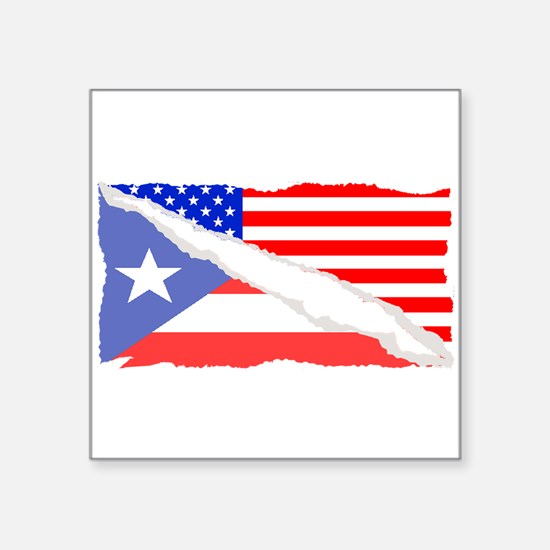 Puerto Rican American Flag Sticker